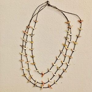 Vintage Zuni Carved Birds Sterling Fetish Necklace